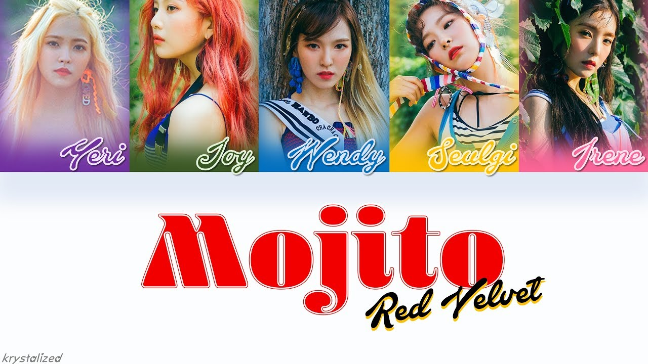 red velvet 레드벨벳 mojito 여름빛 han rom eng color coded