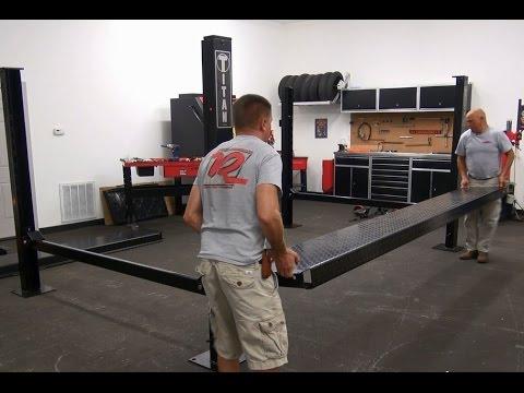 How To - Assembling & Installing a Titan 7K Four Post Parking Lift