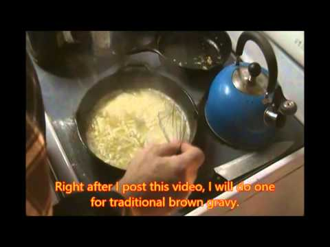how to make pork gravy without drippings