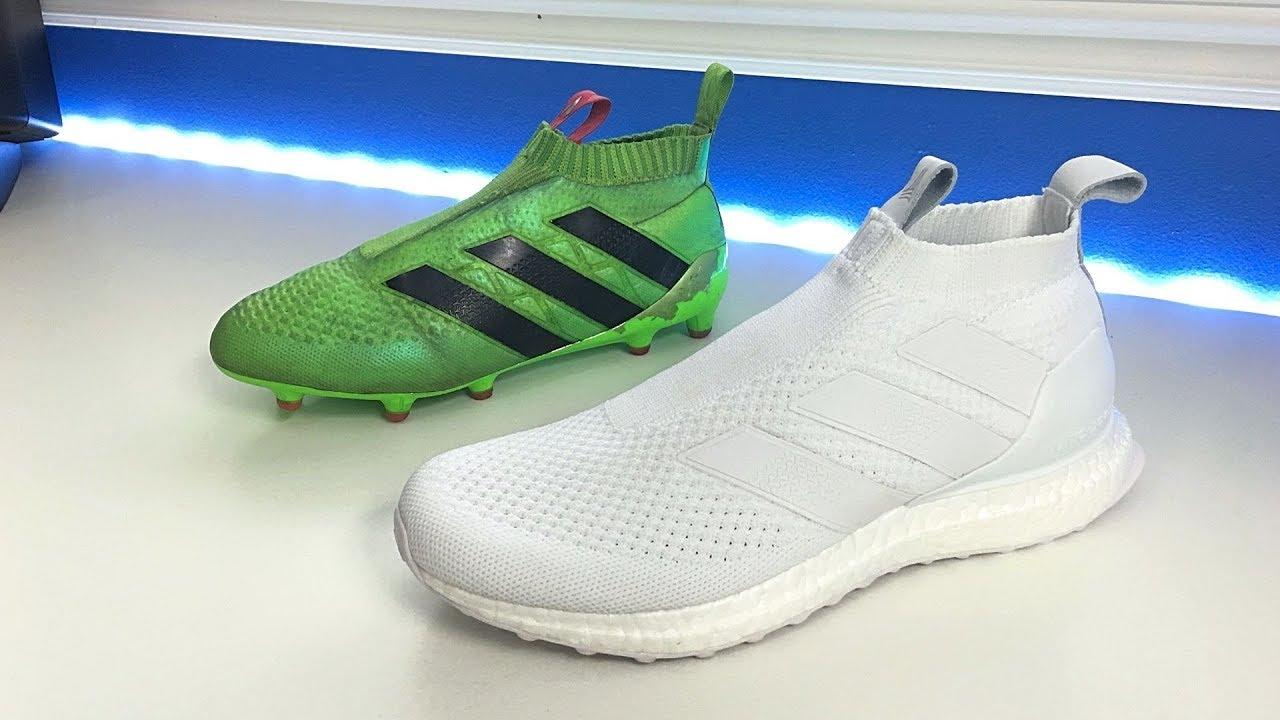 buy online a8339 dd7ef Adidas Ace 16+ Ultra Boost (Triple White) - Unboxing, Review & On Feet