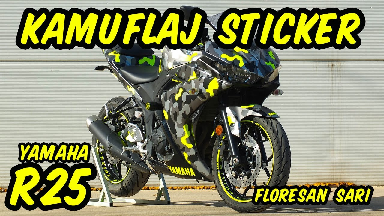 Yamaha r25 kamuflaj sticker camouflage wrap moto sticker 54 by enes boz