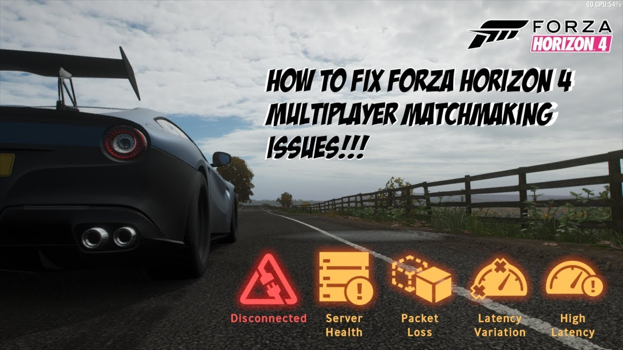 Forza Horizon 4: Online Multiplayer Matchmaking Fix for PC!!!
