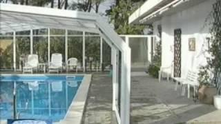 Coperture telescopiche  piscine per privati - Eden Blu