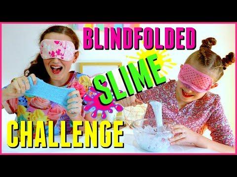jojo siwa teaching how to make slime with no hands