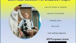 Loans for People on Disability- unsecured loans for disabled- Bad Credit payday Loans