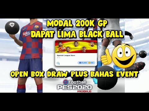 Modal 200k GP Dapat Lima Black Ball ~ Open Box Draw eFootball Pes 2020 mobile - 동영상