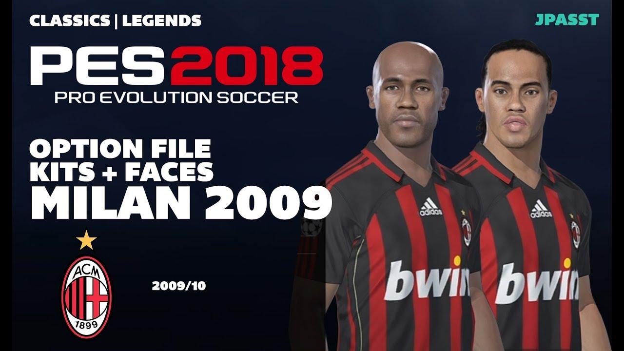 Classics AC Milan 2009/10 - Option File - PES 2018 (PS4/PC)