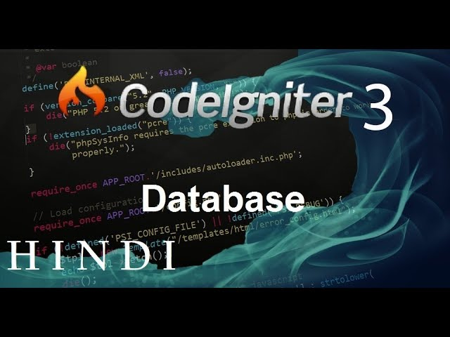 Codeigniter 3 Tutorial 7 Database (हिन्दी)
