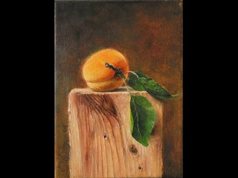 realist apricot fine art oil painting painting techniques speed painting Daniel C. Chiriac