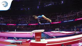 Mari KANTER (NOR) - 2018 Artistic Gymnastics Europeans, junior qualification vault
