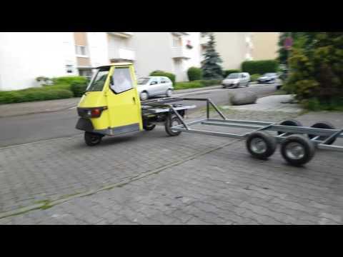 Piaggio APE 50 Pentaro Auflieger Sattelzug Anhänger Truck Trailer Part1