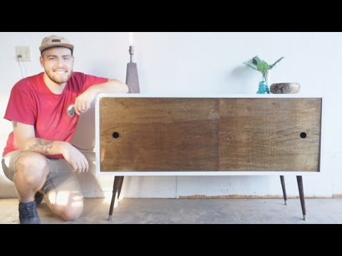 Mid Century Modern Console Table DIY | Modern Builds | EP. 11