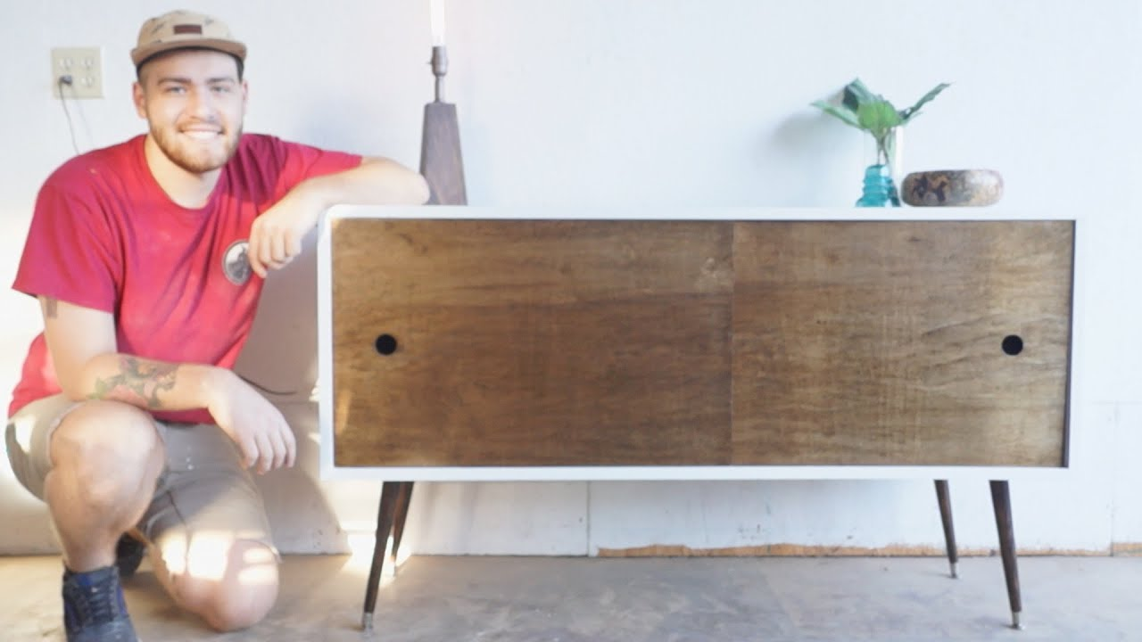 Mid Century Modern Console Table DIY | Modern Builds | EP ...