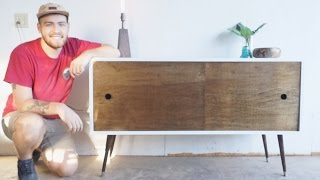 Mid Century Modern Console Table DIY Modern Builds EP. 12