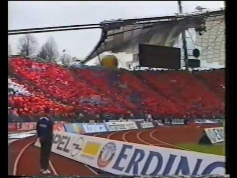 FC Bayern- TSV 1860 Derby 1998 - Choreo und Pyro