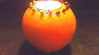 Luminancer: Orange Clove Pomander Candle