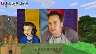 [18.07 MB] Hobby Kids Challenge each other in this Minecraft Castle Build