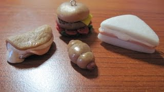 Diy Polymer Clay: Tutorial Sandwiches/ Panini!