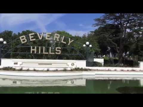 The historic Beverly Hills Lily Pond at the Beverly Gardens Park in the City of Beverly Hills.