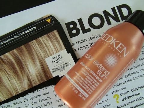 Plötzlich Blond - das Ergebnis blonde Strähnchen