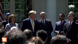 Crowd Sings 'Happy Birthday' to President Trump