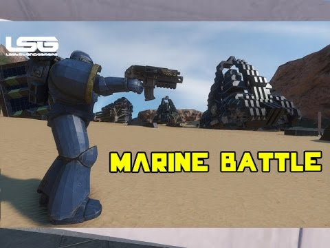 Space Engineers - Space Marine Infantry Battle 40k (Part1)