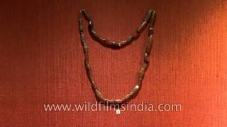 Jewellery of Neolithic Period displayed at