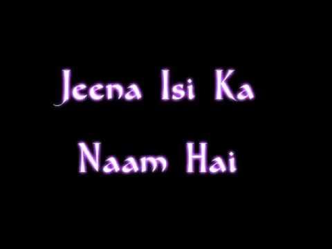 Jeena Isi Ka Naam Hai- Acoustic cover