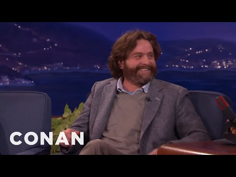 Zach Galifianakis' Question He Refused To Ask President Obama   CONAN on TBS