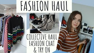 FASHION COLLECTIVE HAUL & TRY ON// CLOTHES & SHOES // HIGHSTREET NEWLOOK ZARA H&M NEXT MATALAN
