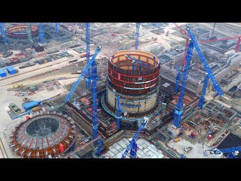Core parts of China's nuclear reactor finishes up installation