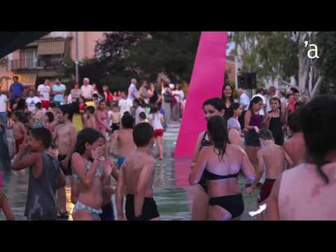 Inauguració dels jocs d'aigua de la plaça Catalunya