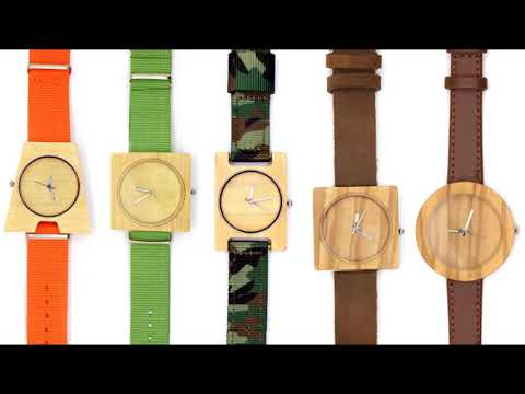 TAKEMOTO handmade wood & bamboo  solar electronice or mechanical watch