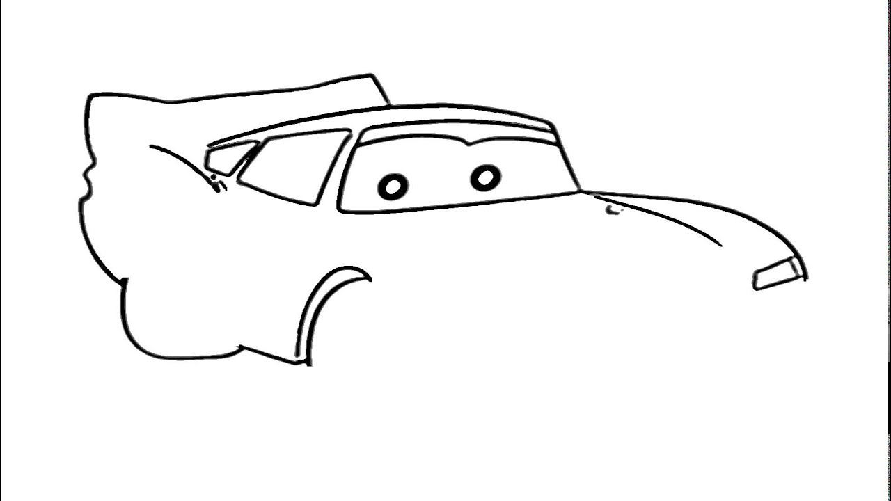 Lightning McQueen Drawing - How to draw Car from Cars ...
