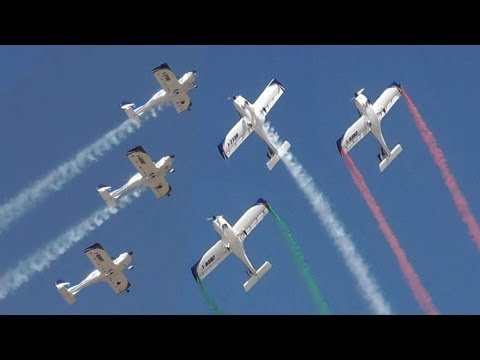 WEFLY Team - Texan Aerobatic Formation Flight! Athens Flying Week 2013 - 3 Fly Synthesis Texans!