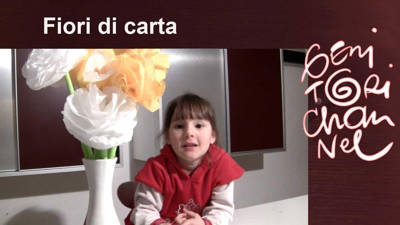 Fiori fatti con i fazzoletti di carta - Festa della mamma - YouTube