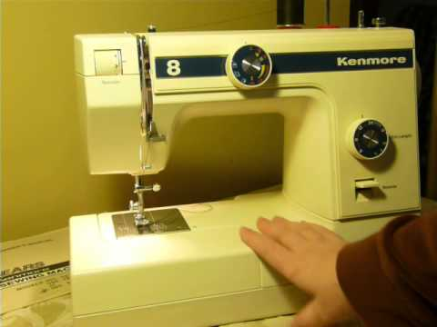 Niftythriftygirl nice clean vintage kenmore model 385 for Machine a coudre kenmore modele 385
