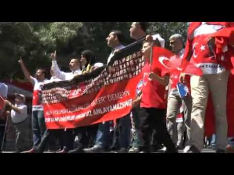 Gaziantep'te 15 Temmuz şehitleri için yürüyüş