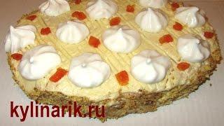 Песочный торт, рецепт с заварным кремом от kylinarik.ru