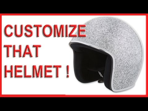 How to Customize your Motorcycle Helmet  full face vs  open face