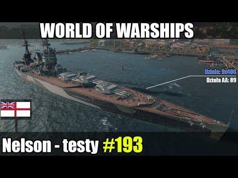 Nelson - World of Warships (Wows) - Gameplay i omówienie okrętu.