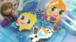 겨울왕국 아쿠아비즈 장난감 수제 구슬 만들기 놀이 アク…