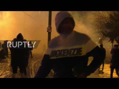 France: Riot police give chase to protesters in Paris suburb