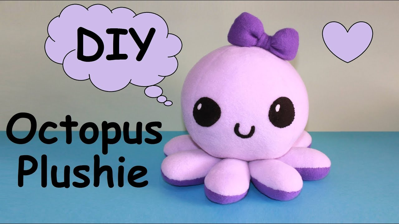 Diy Octopus Plushie With Free Templates Youtube