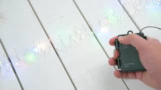 Vidéo: Guirlande piles extérieur 3M 30 micro led multicolore 2 modes fixe et flash étanches