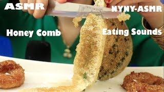 ASMR Raw Honey Comb With Onion Rings (EXTREME STICKY EATING SOUNDS)| NYNY-ASMR