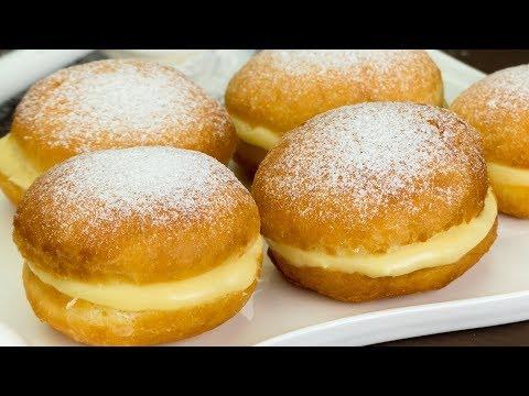 Рай для сладкоежек! Простой рецепт пышных пончиков с молочным, заварным кремом. | Appetitno.TV