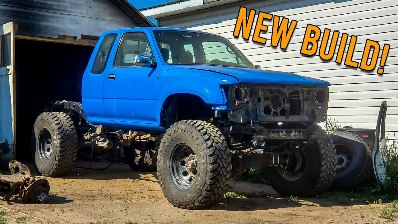NEW BUILD! 2RZ Toyota Pickup Solid Axle Swap Project | Chevy 63s | Dual Trasfercases