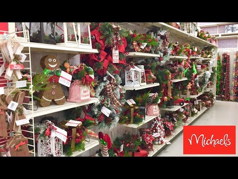 MICHAEL'S CHRISTMAS DECORATIONS CHRISTMAS DECOR ORNAMENTS SHOP WITH ME SHOPPING STORE WALK THROUGH