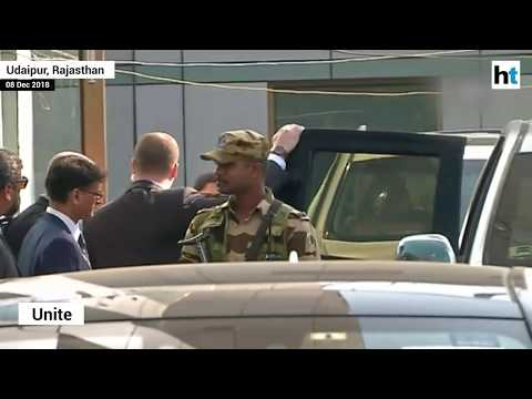 Watch: Hillary Clinton arrives in Udaipur for Isha Ambani-Anand Piramal wedding